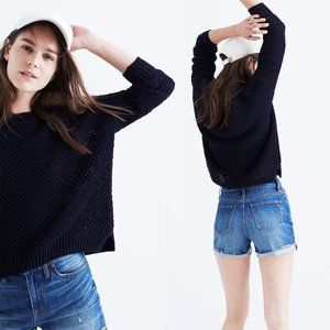 Madewell French Quarter Pullover Sweater Navy